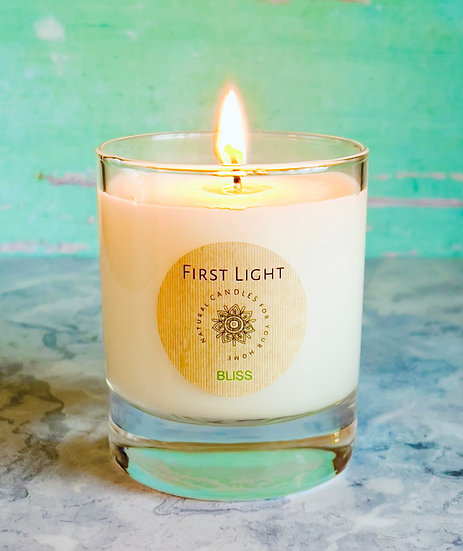 Bliss - Soy Wax Candle with Lemongrass and Basil Essential Oils 20cl