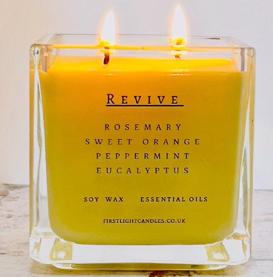 REVIVE Cube. 29cl Rosemary Orange Peppermint Eucalyptus Ess Oils