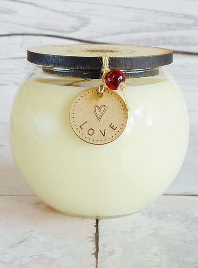 Bowl of LOVE 50cl Soy Candle. Double Wick
