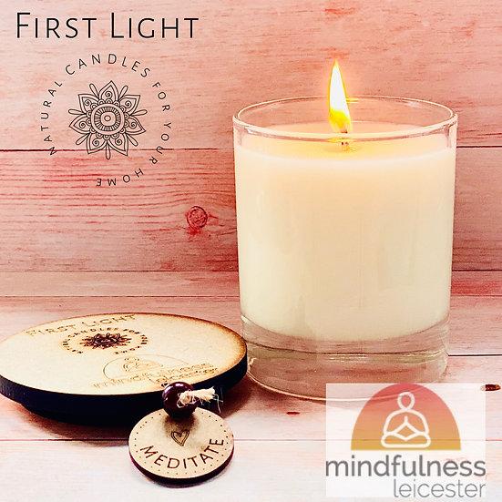 Meditate. 20cl Soy Candle. Lemon Verbena & Cedarwood Essential Oils