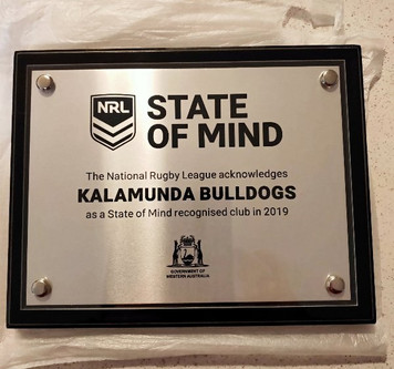 Kalamunda Bulldogs recognised as a State of Mind Club.