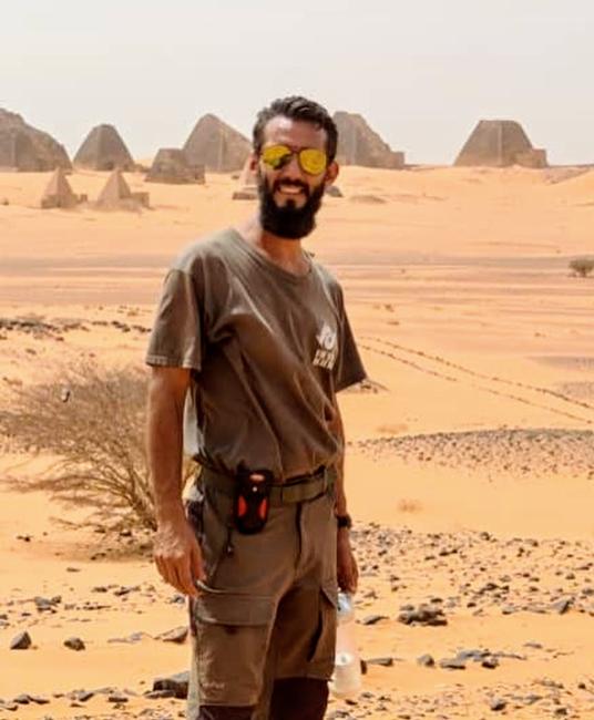 Claude Cazes, marcheur du Nil