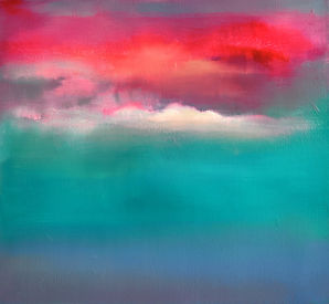 Peace and storm 2 49x54cm oil on canvas