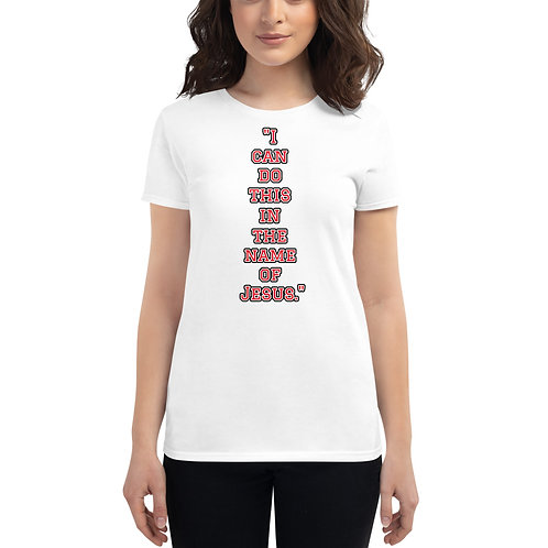 """""""In the name of Jesus."""" Women's short sleeve t-shirt"""