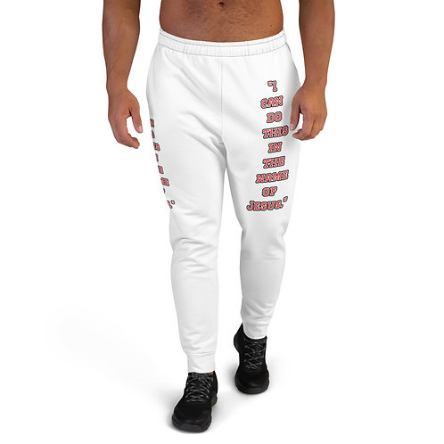 """In the name of Jesus."" Men's Joggers"