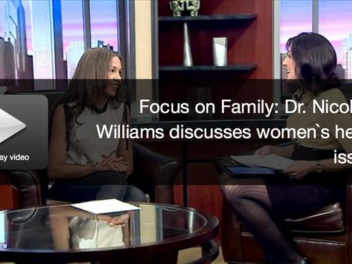 Dr. Nicole Williams with Dana Bair on WGN