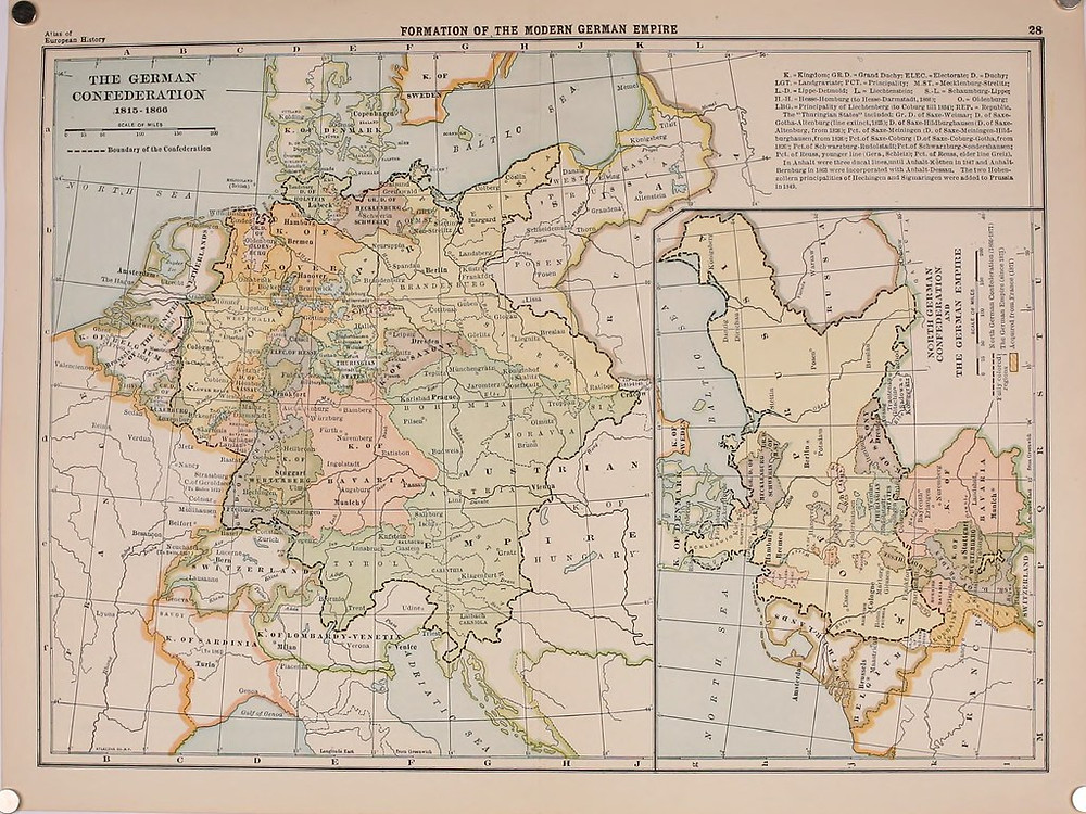 1909 Map of the German Confederation