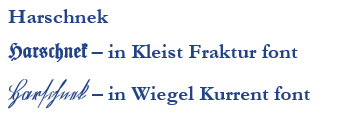 Different German Fonts