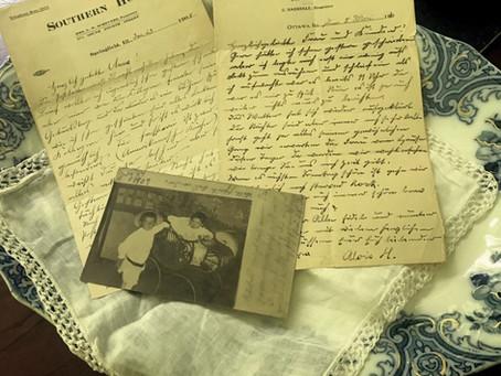 Handwritten Letters & a Postcard