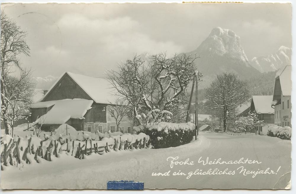 Austrian Christmas Card Frohe Weinachten und ein glückliches neujahr!