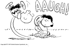 Aaugh - Charlie Brown & Lucy football