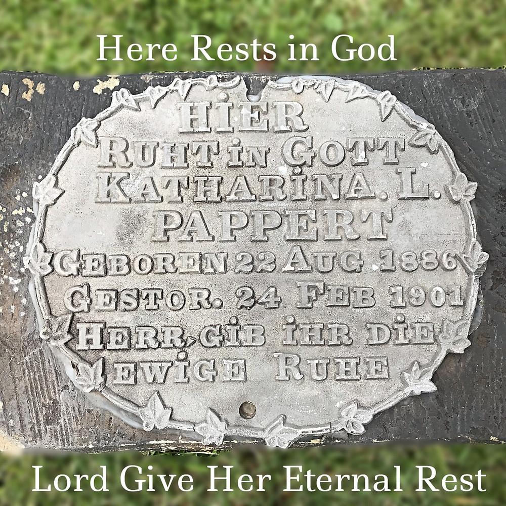 German grave marker - St. Boniface Allegheny PA