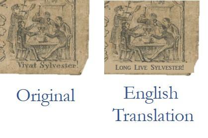 """Detail - German Translation """"Long Live St. Sylvester"""""""