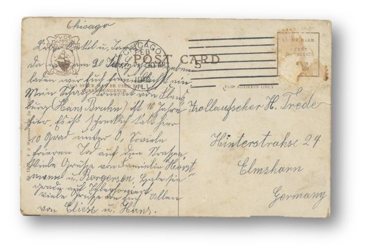 German Sutterlin Postcard - 1912