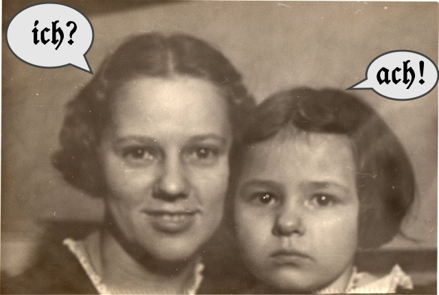 Our grandmother and mother kindly volunteer to model the two sounds for us)