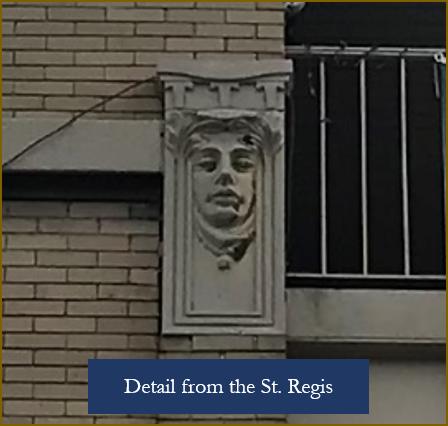 St. Regis Building detail