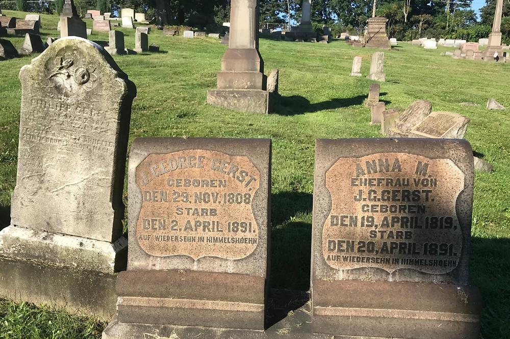 Smithfield East End Cemetery - German Headstones