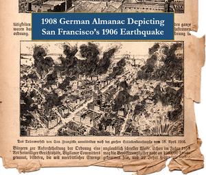 1908 German Almanac Showing San Francisco 1906 Earthquake