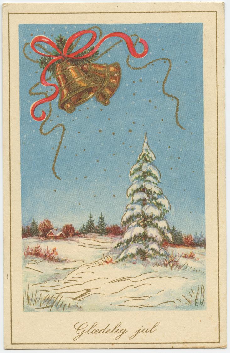 Danish Holiday Postcard Gloedelig Jul