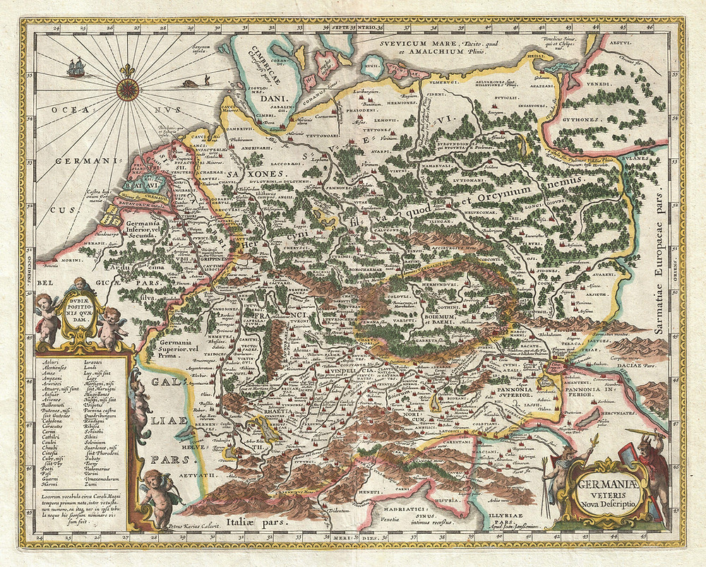 Historic Map of Germany