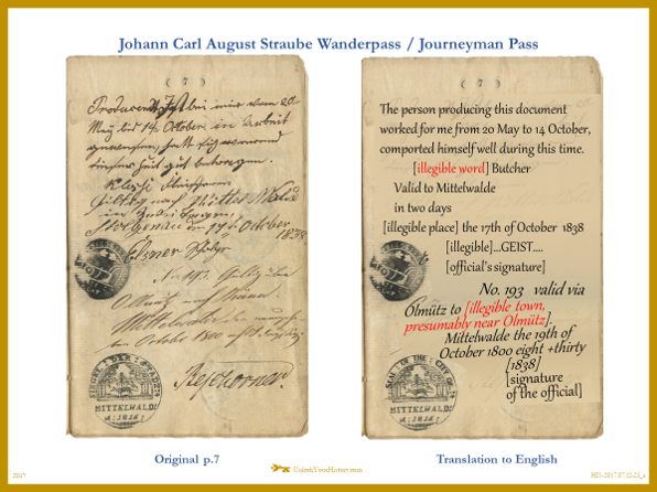Translation Journeyman Pass - Wanderpass