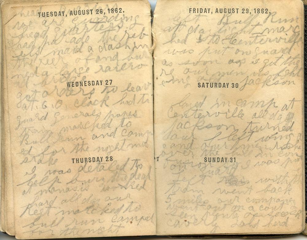 August 1862 Civil War Diary Entries