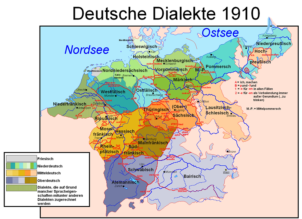 German Dialects Map