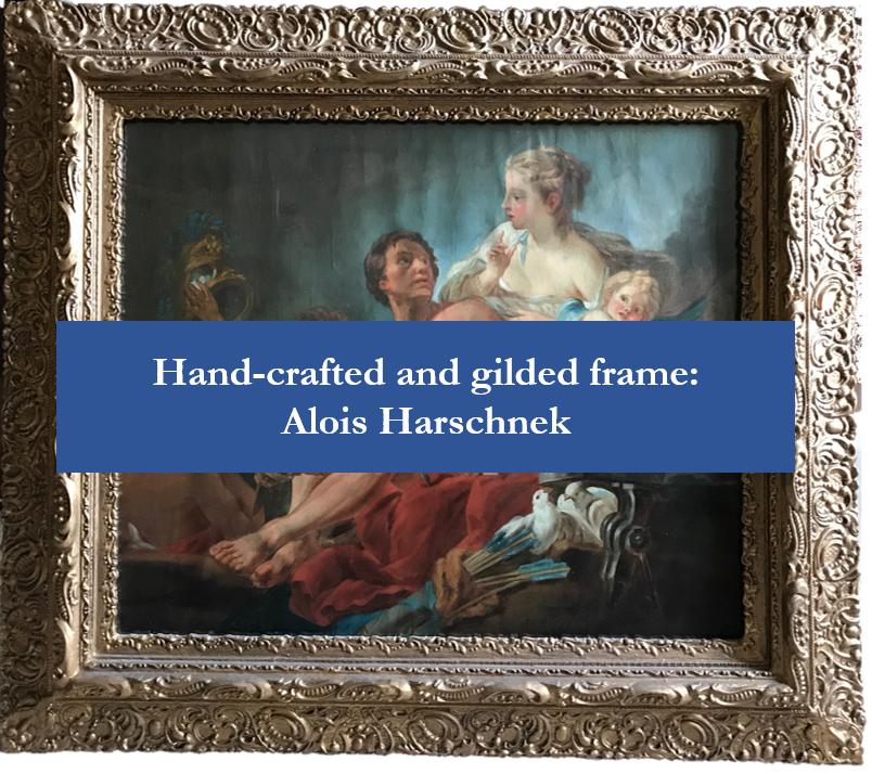 Hand-crafted and gilded frame