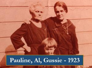 Pauline, Al and Gussie 1923
