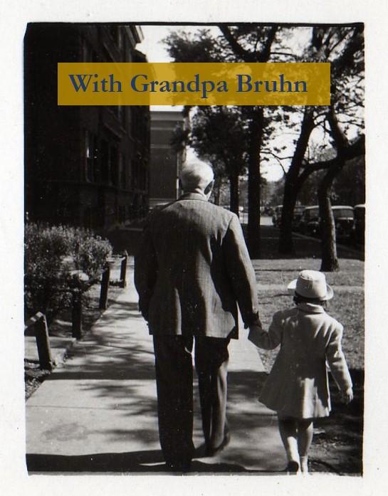 Grandapa Bruhn with granddaughter