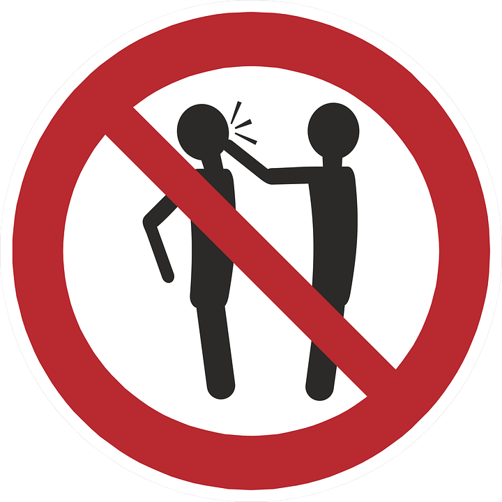 No slapping icon