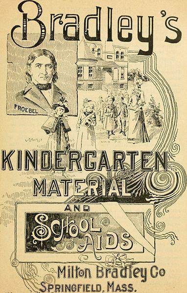 Kindergarten materials ad