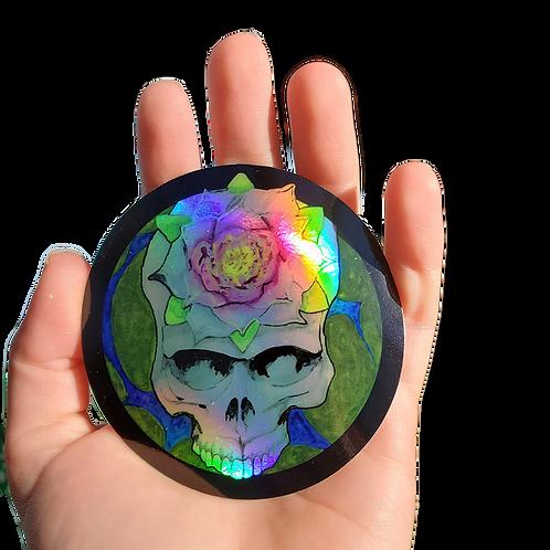 HOLOGRAPHIC   Lotus Stealie Sticker