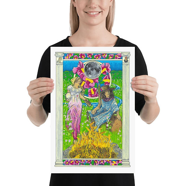 Original poster art inspired by the Grateful Dead Song Althea