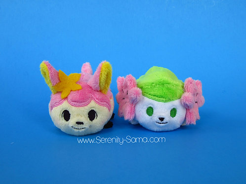Land Shaymin or Spring Deerling Mini Stacking Plush