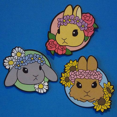 Flower Bunny Stickers