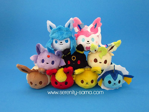 Eeveelution mini stacking plush