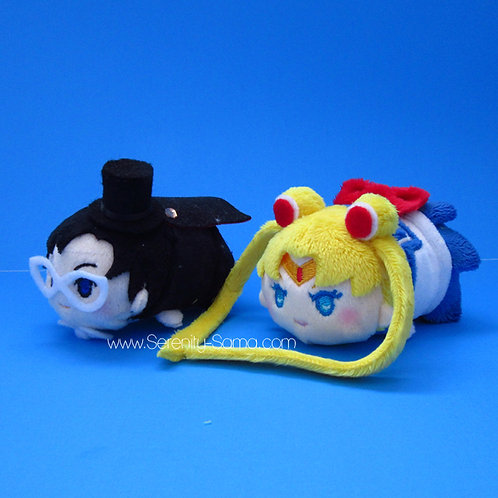 Mini Sailor Moon and Tuxedo Mask Stacking Plush