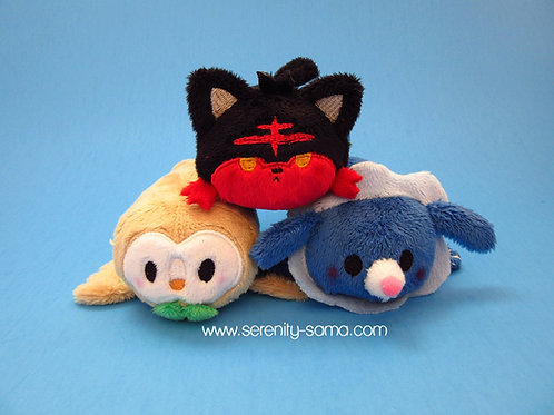 Litten, Rowlett or Popplio mini stacking plush