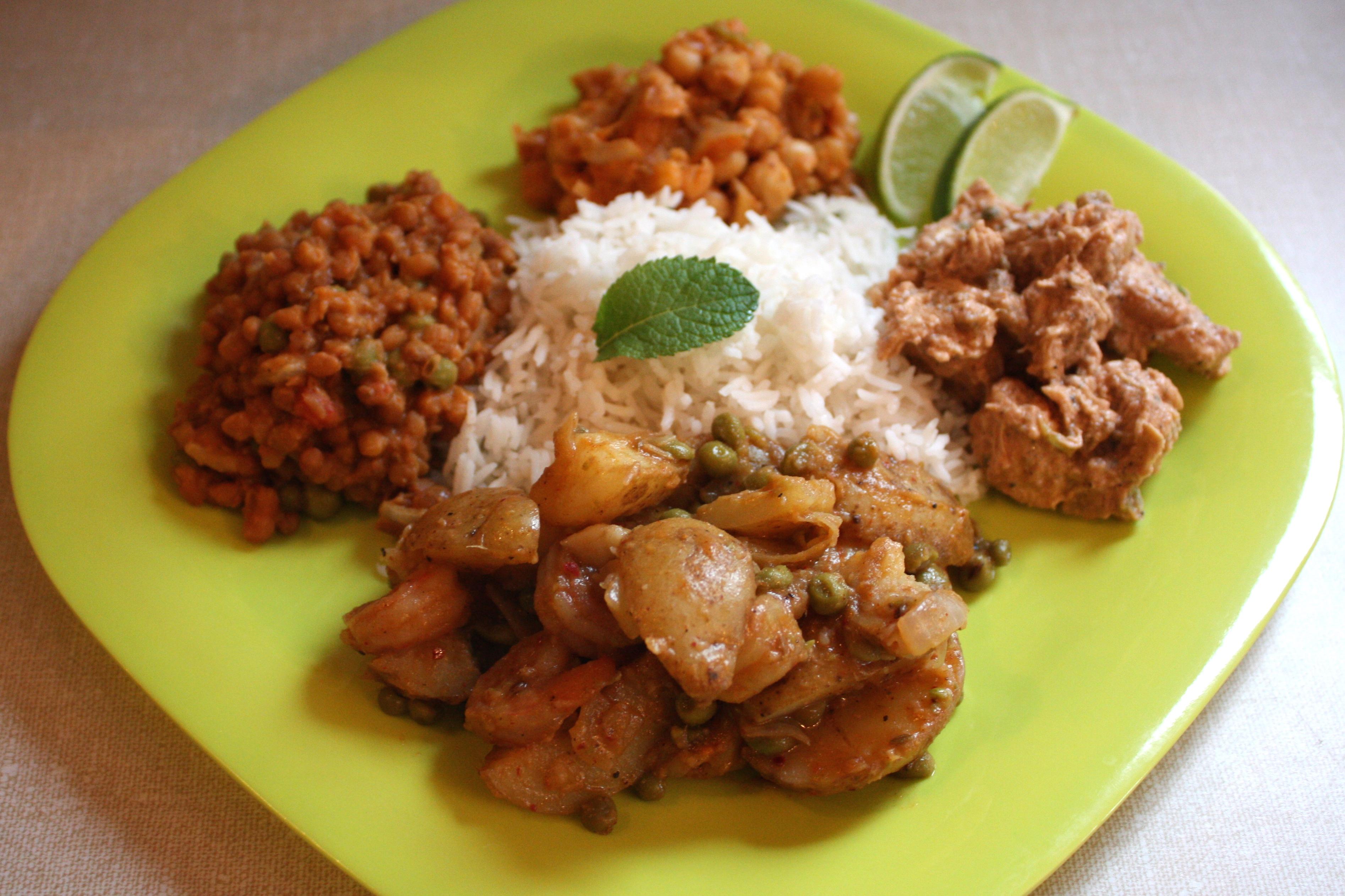 Assiette dégustation indienne
