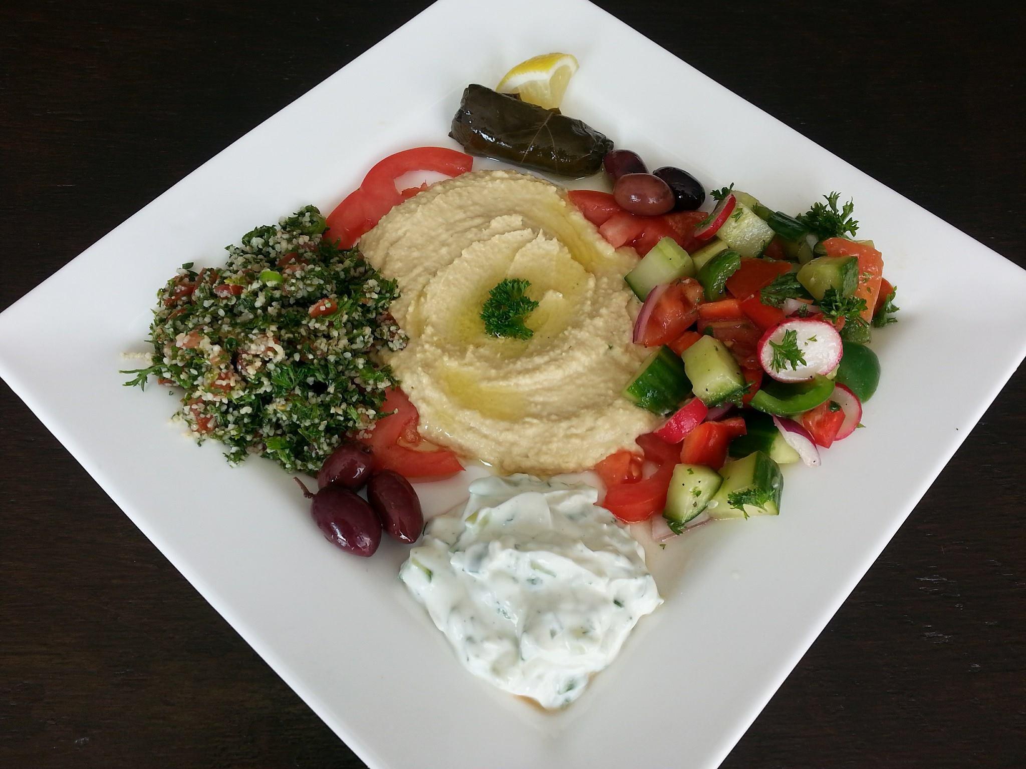 Assiette dégustation libanaise