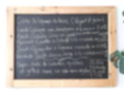 Exemple d'un menu de la semaine