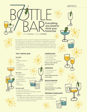 7 Bottle Bar, editorial illustration