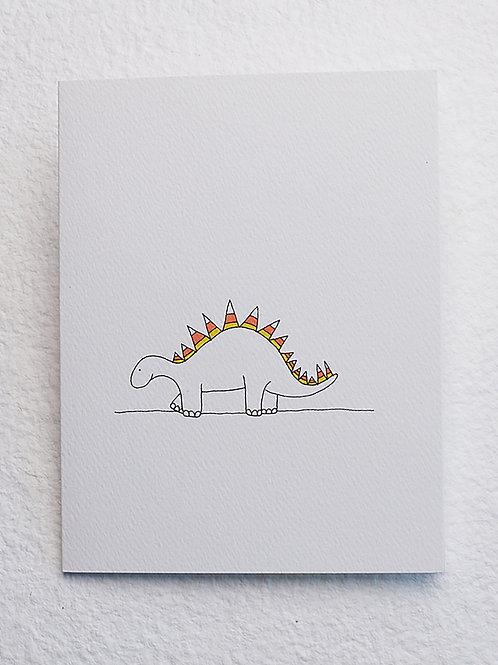 Stegosaurus card (set of 10)