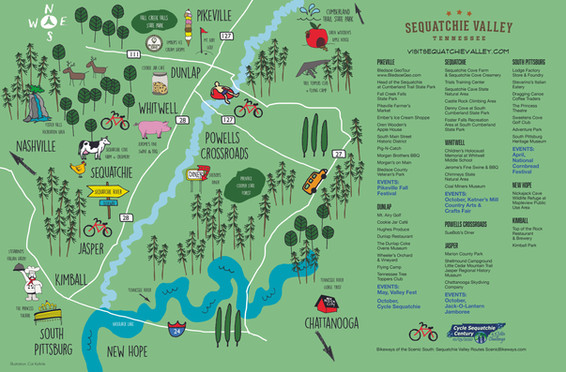 Chattanooga Chamber of Commerce illustrated map