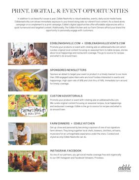 Edible Nashville media kit