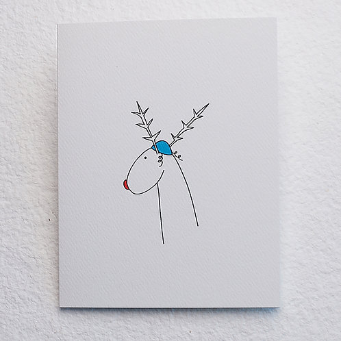 Jewish Reindeer card (set of 10)