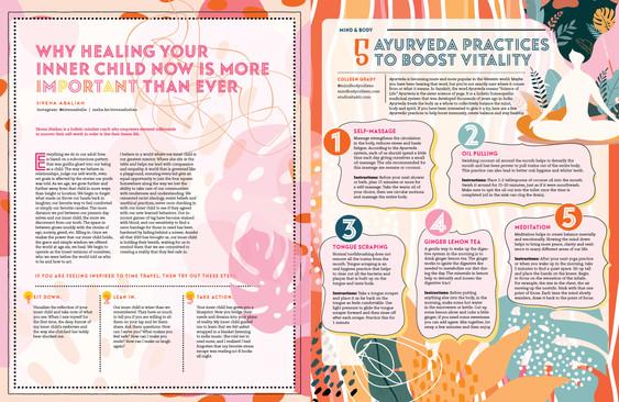 Thrive magazine design