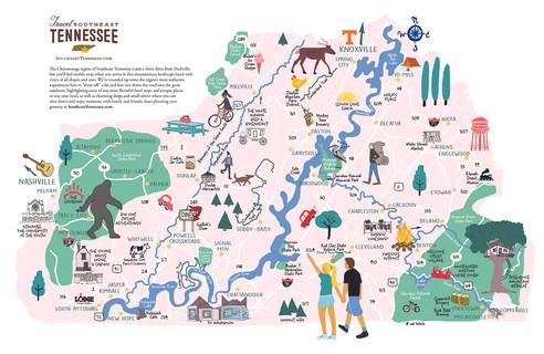 Travel Southeast map