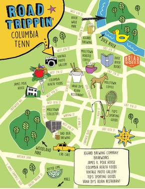 Columbia, TN illustrated map
